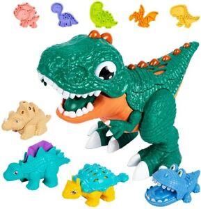 Dinosaur Playdough Sets Toddlers,Play Dough Tool Kit for Kids(24 Pack Playdough)