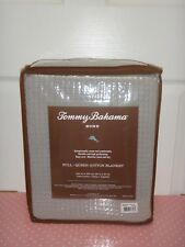 "Tommy Bahama Full Queen Blanket Bahama Coast Pelican Gray 100% Cotton 90"" x 90"""