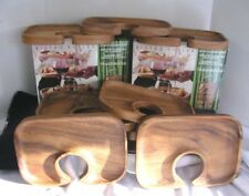 Tradewinds Appetizer Wooden Tray Canape Trays Set Of 8 Bistro Butler Food & Drin