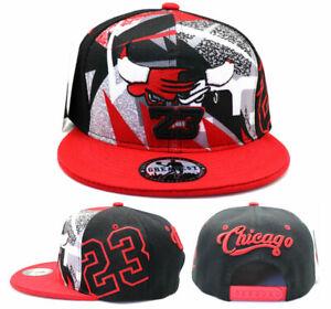 Chicago New Greatest MJ 23 Jordan Bulls Black Red Fantasy Era Snapback Hat Cap