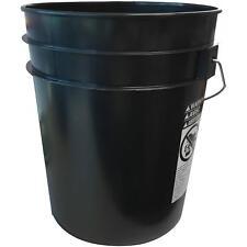 10-Pack Bucket Pail Set (5 Gallon), Heavy Duty, Reinforced, Rigid Plastic