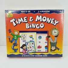 Time and Money Bingo Educational Fun Learning Game 1997 by School Zone