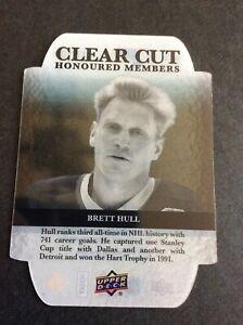 2011-12 UD Clear Cut Honoured Members BRETT HULL - SP 027/100 - Beauty! MINT!