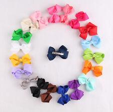 20pcs/Lot Kids Baby Girls Children Toddler 3'' Flowers Hair Clip Bow Accessories