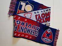 Echarpe  de football coupe de france  clermont foot /OL lyon 2004/2005  vintage