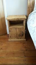 NEW SOLID WOOD RUSTIC CHUNKY PLANK WOODEN BEDSIDE CABINET MADE TO MEASURE