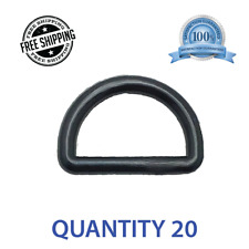 """20 pcs 1"""" Centering DEE D Ring DRing - Black Plastic - Shipped from USA"""