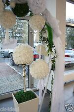Rosenball weiß 24cm ca. 40 Rosen mit Diamant/Perle Hochzeit, Kirchendeko, Luxus