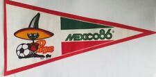 Football Worldcup Mexico 86 Retro Pennant Pique
