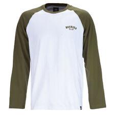 Dickies Dark Olive Baseball Raglan Long Sleeved T-shirt M