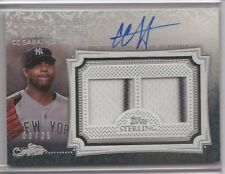 2020 TOPPS STERLING CC SABATHIA AUTO DUAL JERSEY PINSTRIPE 3/25 YANKEES AUTO