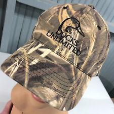 Ducks Unlimited Camo Green Wing YOUTH Strapback Baseball Cap Hat