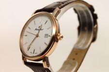Schweizer Uhr, Mathey-Tissot City H611251PI, weiß/roségold, Lederarmband