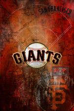 San Francisco Giants 12x18inch Poster San Francisco Baseball Free Shipping Us