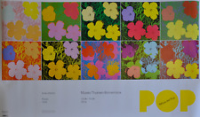 ORIGINAL POSTER ANDY WARHOL FLOWERS EXPO SPAIN 2014
