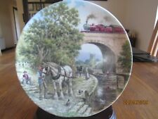 STEAM TRAIN PLATE - OVER THE CANAL - COUNTRY CONNECTIONS - RAILWAY LOCOMOTIVE