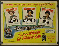 THE WISTFUL WIDOW OF WAGON GAP 1947 ORIG. 22X28 MOVIE POSTER BUD ABBOTT