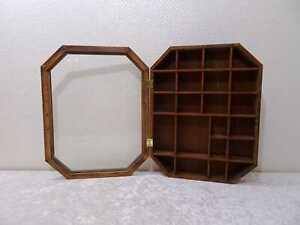 Setzkasten Vitrine Hängeschränkchen - Holz Glas - Vintage-Stil Antik-Design