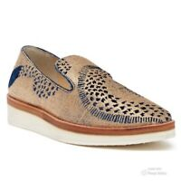 Free People Womens Snake Eyes Loafer Shoes Size 38 Gold Blue EUC