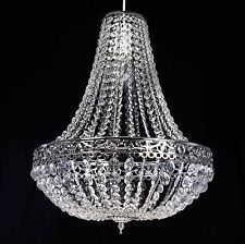 Large Moroccan Acrylic Crystal Chrome Chandelier Easy Fit Pendant Light Shade