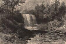 MINNESOTA. Falls of Minnehaha. Mississippi river 1874 old antique print
