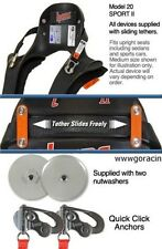 Hans Device Large Model 20 Sport II with QUICK-CLICK Sliding Tethers-20 Degree *