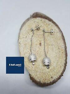 orecchini argento 925 pendente campanella