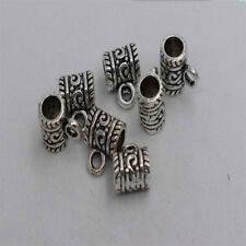 20pcs Antique silver plated tube bail pendant connector T0268