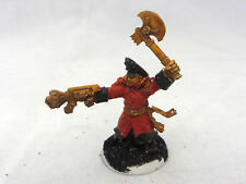 Warhammer 40K Imperial Guard Astra Militarum Commissar metal power axe hand flam
