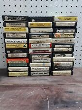 Lot of 36 Eight Track Tapes Country & more!
