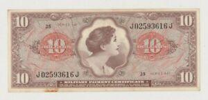 USA  MPC PM63  VIETNAM WAR  10  DOLLARS  1965  XF