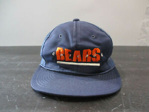 VINTAGE Sports Specialties Chicago Bears Hat Cap Blue Football Snap Back 90s*