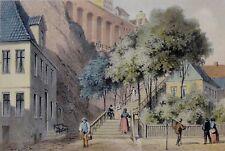 Wilhelm HEUER (1813-1890) Litho 1850: HELGOLAND - DIE GROSSE TREPPE / Rarität !!