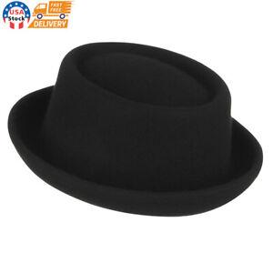 Men's Everyday Wool All Season Porkpie Boater Derby Fedora Sun Hat Cap Classic