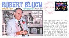 Coverscape computer designed author Robert Bloch centennial event cover