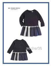 BURBERRY INFANT GIRLS' MINI ORLIA QUILTED DRESS NAVY SIZE 12 MONTHS NWT $190