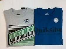 "New, Lot of 2, Quiksilver Men's ""Rough & Striped"" T-Shirts, Small, Slim Fit"