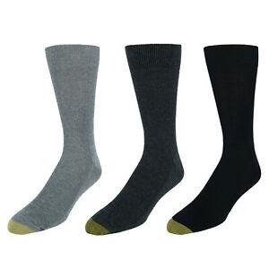 New Gold Toe Men's Cotton Moisture Control Metropolitan Dress Socks (3 Pair