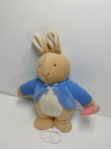 Eden Stuffed Plush Peter Rabbit Musical Crib Pull Toy You Are My Sunshine