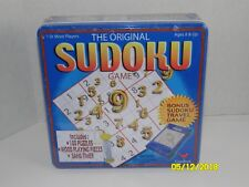 NEW Cardinal Original Sudoku Game in Tin Sealed Bonus Travel Game Wood Pieces