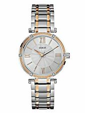 Guess U0636L1 Women's Two Tone Stainless Steel Silver Dial Classic Analog Watch