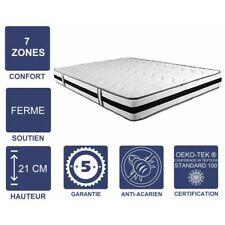 Matelas Mémoire de Forme 60 Kg/m3 - 21 cm Ferme - 7 Zones de Confort - Noyau Aer