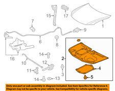 Scion TOYOTA OEM 11-16 tC Hood-Insulation Pad Liner Heat Shield 5334121060