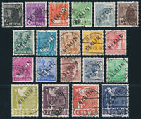 BERLIN 1948, MiNr. 1-20, sehr schön gestempelt, gepr. Schlegel, Mi. 2400,-