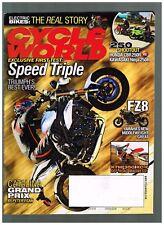 CYCLE WORLD APRIL 2011 CBR250R vs NINJA 250R KTM 350 XC-F TRIUMPH SPEED TRIPLE