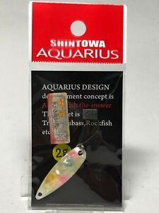 54701) Aquarius Design Abalone York Mini Trout Spoon 2.0g #Silver Pearl candy