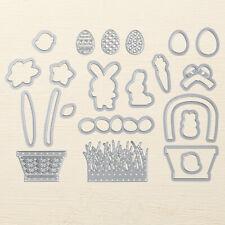Stampin Up Sizzix Basket Builder Framelits Dies NEW Easter Bunny Carrot Eggs