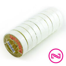"""Westape WHITE ELECTRICAL TAPE 7 mil X 3/4"""" X 60ft ( 10 Pack )"""