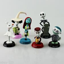 Nightmare Before Christmas 6 Figure Toy Doll Cake Topper Playset **U.S. Seller**