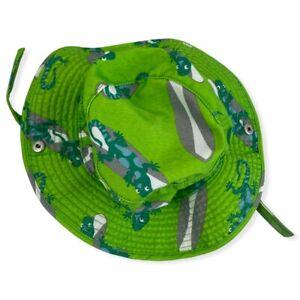 Gymboree Bucket Hat Green Gecko Lizzard Theme Size 0-12 Months Chin Strap